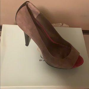 Gently Worn Peep toe shoes